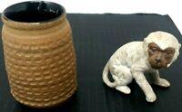 Ceramic Pair Decorative Monkey Multi Functional Pot Signed J W Right Excellent