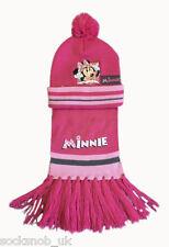 Kids Girls/Boys 2 Piece Cars & Minnie Mouse Hat & Scarf Set