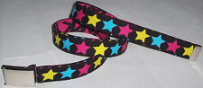 STAR BELT Buckle Pop Punk Rock 80's Neon Pink Hot Topic Emo Ska Skate Cool Style