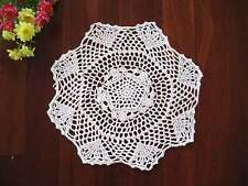 Lovely New Skilful Hand Crochet White Cotton Doily B