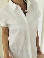 SPORTSCRAFT Womens Shirt TAILORED WHITE COTTON CUP SLV SZ 16
