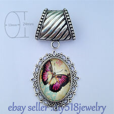 NEW DIY Jewelry Necklace Scarf pendant Charm Silver butterfly LOVE Flower C19-14
