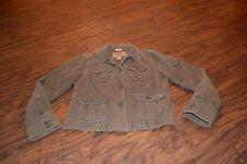 J2- Aeropostale Brown Corduroy Button Down Long Sleeve Jacket Size M