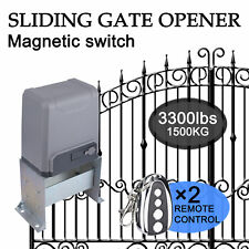 Sliding Gate Opener for Gates Up to 3300Lbs with Remote Controls,