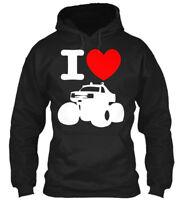 I Love Monster Trucks Premium Truck - Car Gildan Hoodie Sweatshirt