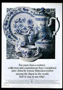 1968 Lorenz Hutchenreuther Blue Onion plate pitcher cup photo vintage print ad
