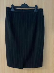 PATRIZIA DINI Rock Gr. M 38 Nadelstreifen, Business Mode, Damen Bekleidung  *