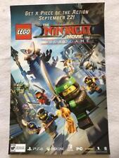 "THE NINJAGO MOVIE - 11""x17"" Original Promo Poster SDCC 2017 MINT Lego Videogame"
