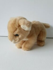 Hansa Lion Cub Cat [23cm long] Soft Plush Stuffed Animal Toy Taronga zoo