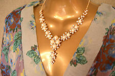 STUNNING Pearl and Diamond effect choker necklace Wedding Diamante mother bride