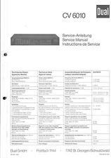 Dual original service manual pour CV 6010