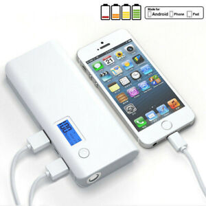 900000mAh Power Bank Charger Battery Pack Portable 2USB LED For Mobile Phone Hot