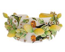 DOLCE & GABBANA Diadem Headband Gold Yellow Lemon Daisy Crystal Tiara RRP $1900
