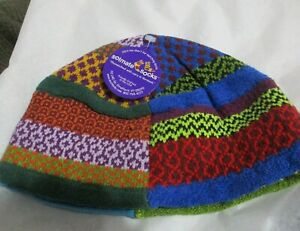 SOLMATE SOCKS BEANIE HAT THINKING CAP VERMONT USA PATCHWORK ADULT ONE SIZE   #6
