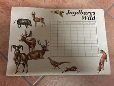 DDR Stundenplan / Wochenplan Jagdbares Wild DEWAG 1974
