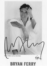 AUTHENTIC SIGNED BRYAN FERRY OFFICIAL 7 X 5 PHOTO ROXY MUSIC REAL SIGNATURE..COA