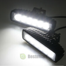 2X 6Inch 18W LED Work Light Bar Flood Driving OFFROAD Fog Reversing Repair