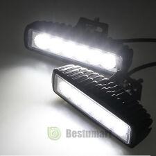 2X 6Inch 18W LED Work Light Bar Flood Driving OFFROAD Fog Reversing Repair Light