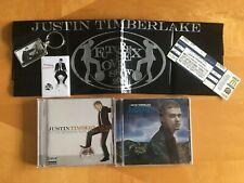 Justin Timberlake Lot of Tour Memorabilia Magnet Keychain Ticket Stub Bag CDs