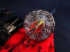 Battle ready wave tsuba folded steel clay tempered blade jp samurai katana sharp