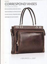 SAC LANCEL PUBLICITE / PUB ISSUE D'UN MAGAZINE DE PRESSE 20 x 29,5 CM TBE