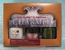 CND Shellac CHARMED ICE VAPOR & FROSTED GLEN 3-pc Gel Polish Set FREE ADDITIVE
