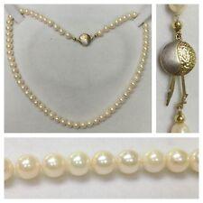 Akoya Perlen Kette Collier mit 333er Gold Verschluß Perlencollier Perlenkette