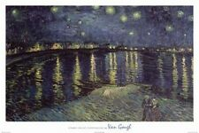 Vincent Van Gogh Starry Night Over The Rhone 1888 art print starlight poster