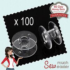 100 Empty Plastic Bobbins for Sewing Machines Janome Brother Elna Singer bobbin