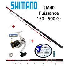 Pack Bateau Shimano Scimitar 2M40 + Moulinet Okuma Avenger 65 + Tresse Daiwa