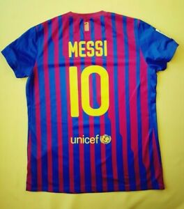 Messi Barcelona women jersey large 2011 2012 shirt soccer Nike ig93