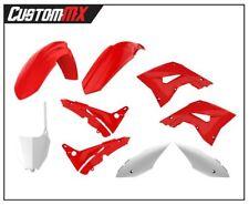 Honda CR125 CR250 02-07 Polisport Restyle Plastic Box Kit, OEM Red/White
