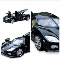 Diecast Black 1:32 Koenigsegg Model car Collect with light&sound Model Car Toy