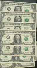 NINE ONE DOLLAR STAR NOTES GOOD TO MINT 1995 99 01 ONE HAS 888*
