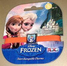 Roxo Olaf 1 Charm Set Bracelet Wrist Band Jewelry Kids Frozen New Disney Orange