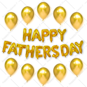 Happy Father`s Day Celebration Balloons DAD Birthday Gift Party Best DAD UK Foil