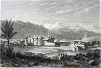 Greece, KORINTH ANCIENT CORINTH TEMPLE OF APOLLO ~ 1827 Art Print Engraving RARE