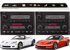 Replacement Climate Control Button Stickers For 2005-2013 Chevrolet Corvette New