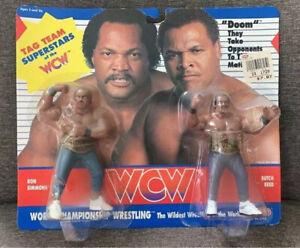 RARE MOC WCW DOOM TAG RON SIMMONS & BUTCH REED GALOOB WRESTLING WWF WWE HASBRO