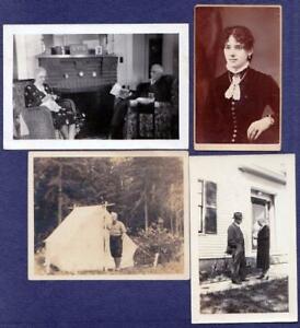 (8) FLINT FAMILY Monson Maine Photos - John R, Hattie, Levi R., John W.