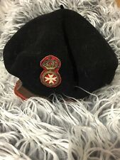 Triomphe super luxe Impermeable Vintage Black Wool French beret