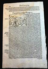 INCUNABULA FOLIO 1500s - Medieval European Cities: Campidano, Kempten, Hyssna
