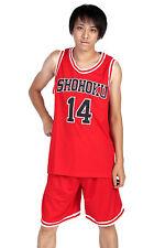 Slam Dunk Cosplay Costume Shohoku High Mitsui Hisashi Red 14 Jersey V1