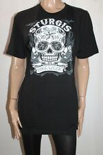 HOT LEATHERS APPAREL Brand Black SKULL Short Sleeve T-Shirt Size XL BNWT #SN55