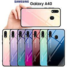 COVER per Samsung Galaxy A40 ORIGINALE Gradient Glass con RETRO VETRO TEMPERATO