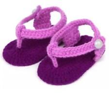 Purple and Fuschia Knitted Sandals Fashion Baby Girl casual shoes