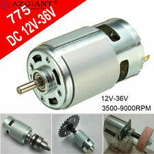 Large Torque High Power Motor 775 12V-36V DC 3500-9000RPM Low Noise &Bracket