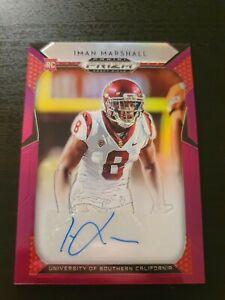 Iman Marshall 2019 Prizm Draft Picks American Football Auto Card Purple Trojans
