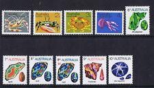 Australian Decimal Stamps 1973- 74 Marine and Gem Definitive Set 10 MNH