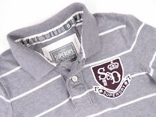 G6339 SUPERDRY POLO SHIRT TOP ORIGINAL PREMIUM GREY size S